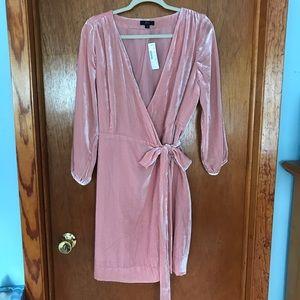 Pink Velvet J.Crew Wrap Dress
